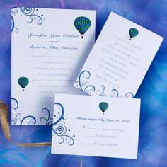The Hot Air Balloon Wedding Invitations [INW070] [INW070] - $0.00 ...