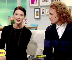 outlander-starz:   SamCait on Lorraine   I'm... - I See Sparkly Things