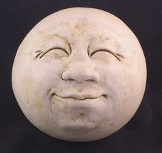 ManintheMoon Garden Head Antique White/eggshell by thefunnything, $60.00