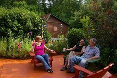 Inn patio at Cedar House Inn and Yurts, Dahlonega, GA