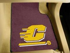 Central Michigan University 2-pc Printed Carpet Car Mat Set