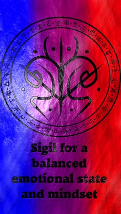 Wolf Of Antimony Occultism - Sigil for a balanced emotional state and mindset requested by - Wiccan Symbols, Magic Symbols, Spiritual Symbols, Symbols And Meanings, Wiccan Spell Book, Witch Spell, Sigil Magic, Eclectic Witch, Magick Spells