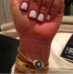 Kim Kardashian Nails #white