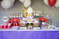 """""""We jumped out a Window"""" with this year's Big Hero 6 Birthday Bash! 6 Cake, Cake Smash, Big Hero 6 Party Ideas, Birthday Bash, Party Favors, Parties, Treats, Boutique, Kids"""