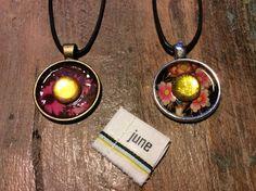 """Kette """"june"""" mit Lederband von junemay auf DaWanda.com"""