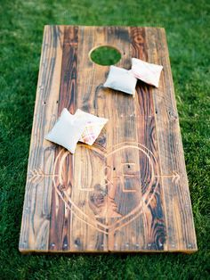 Outdoor Lawn Games during Cocktail Hour | #Cornhole | See the wedding on #SMP Weddings: http://www.stylemepretty.com/2013/12/19/the-historic-balch-hotel-wedding/ Jon Duenas Photography