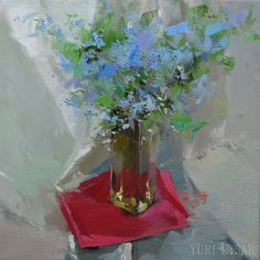 Blue oil painting floral Oil flower painting on canvas floral still life painting blue oil painting floral oil flower painting on canvas floral still life painting floral flower painting still life painting flowers artwork bunch of flowers yuri pysar perfect gift for her blue red wall art affordable art 600.00 USD #goriani