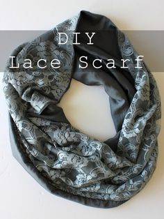 DIY Infinity Lace Scarf