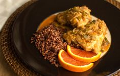 Chicken braised in orange juice with ginger and other spices | mjskitchen.com