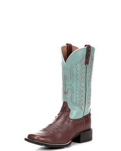 Ariat Women's Honor Boot - Dark Bay/Glazed Turquoise  http://www.countryoutfitter.com/products/52104-womens-honor-boot-dark-bay-glazed-turquoise