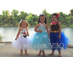Frozen Inspired Tutu Ana Elsa Olaf Inspired Tutu Costume Dress for Dress Up or Halloween or Birthday Dress on Etsy, $38.00