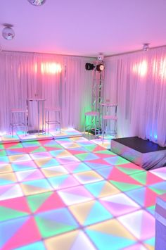 studio 54 disco themed birthday party. I'd love to dance on a lighted floor! Who wants to dance!