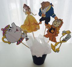 5 piezas de belleza y la bestia Disney princesa centro de