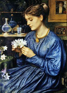 Edward John Poynter ~ Portrait of Agnes Poynter 1867