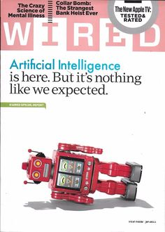 Wired magazine Artificial intelligence Science of mental illness Apple TV Heist