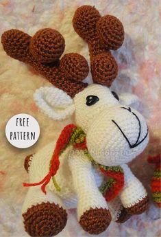 Amigurumi Christmas Deer Free Pattern