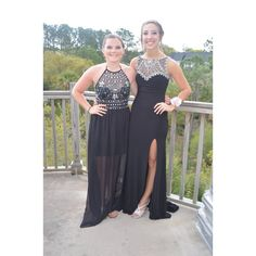 Black Halter Prom Dress (Left)