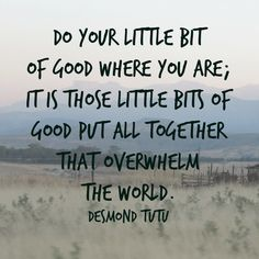 Just do your little bit... via teacollection.com