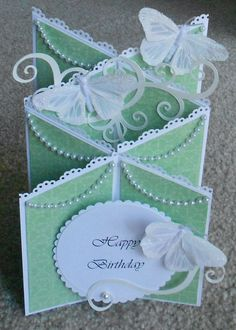 Handmade birthday cascade card: