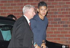 Marcos Rojo arrives in Manchester late on Tuesday 19th August 2014, ahead of his proposed move from Sporting Lisbon.