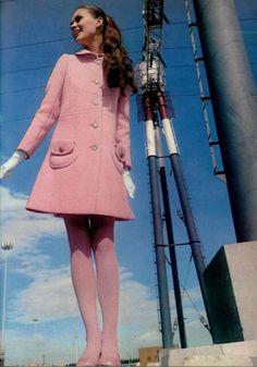60's pink coat