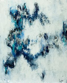 Indigo bluepainting abstract art Indigo Dreams by © Kirsten Reed Art