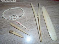Prodám náramek ze slonové kosti-750,vytahovátko na rukavice - obrázek číslo 1