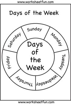 der Woche: -Tage der Woche: - Days of the week wheel FREEBIE *Daily repetition of this may help those kiddos who have difficulty sequencing days of the week Days of the Week Worksheets English Worksheets For Kids, English Activities, Preschool Learning Activities, Preschool Lessons, Kindergarten Worksheets, Teaching Kids, Teaching Resources, Days Of The Week Activities, Measurement Kindergarten
