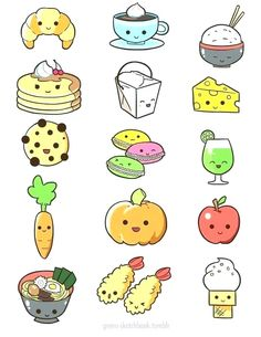 kawaii draw drawings doodles drawing cupcake face step tegninger mad af nathalie cartoon easy disimpan dari