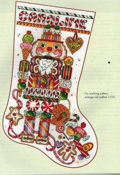 Nutcracker Crossstitch stocking. Stocking Collection 2nd Edition - Donna Kooler Cross Stitch by Leisure Arts