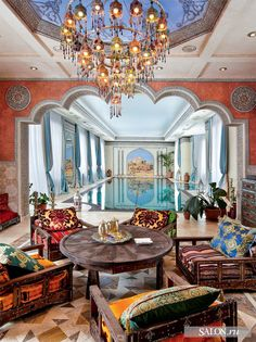 moroccan style indoor pool