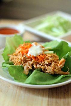 skinny buffalo chicken lettuce wraps buffalo chicken lettuce wraps ...