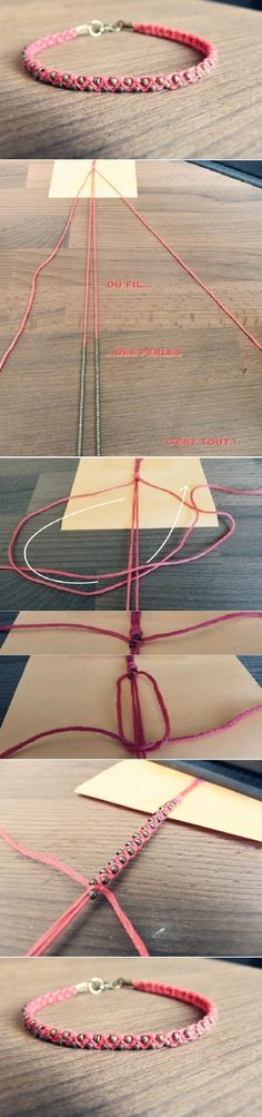 DIY Just a Weave Bracelet - Tutorial ❥ 4U // hf: