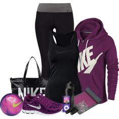 """""""Exercising"""" by lulurose98 on Polyvore - might need this outfit for when I start exercising after the baby."""