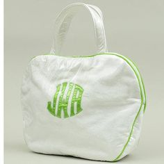 Custom Monogram Applique Cosmetic Bag by Talley Ho, available at https://www.delraymonograms.com/shop-18