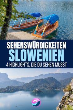 Slowenien Sehenswürdigkeiten: 4 Highlights, die du sehen musst | In diesem Artikel zeige ich dir 4 einzigartige Slowenien Sehenswürdigkeiten, die du bei deiner Reise in dieses wunderschöne Land sehen musst. #Sehenswürdigkeiten #Reisetipps #Slowenien #Reisen #Urlaub #Kurzurlaub #Kurzreise #BlederSee #Vintgarklamm #Postojna #Predjama Back On Track, Top Of The World, Montenegro, Planets, Highlights, Road Trip, Travel, Kind, Tricks