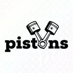 Pistons logo. Designed by @molumen, on sale at @stocklogos