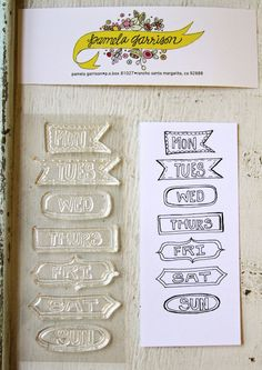 Oh my golly, Pam Garrison is offering stamp sets of her fabulous doodles! I've simply gotta get them all!