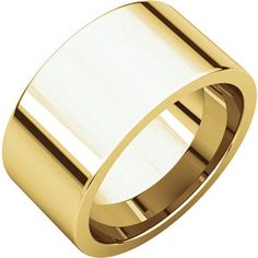 10kt Yellow 10mm Flat Comfort Fit Band
