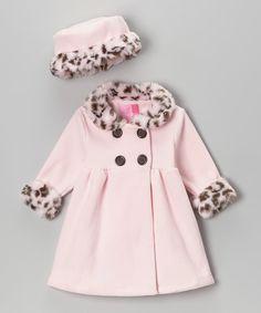 Pink Leopard Swing Coat & Hat