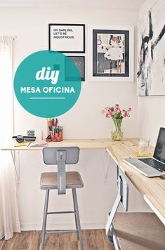 Home Office Decor. Home office and home study styling options, such as tips on limited area, desk suggestions, layouts, and units. Create a workplace in the house that you won't mind getting work done in. 30854795 5 Home Office Decorating Ideas Office Inspiration, Wall Desk, Small Space Solutions, Home, Interior, Workspace Design, Diy Standing Desk, Desk Design, Desk