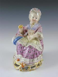 "Antique Meissen Figurine 5 1/2"" Sold for $662.00 Bidders 14"