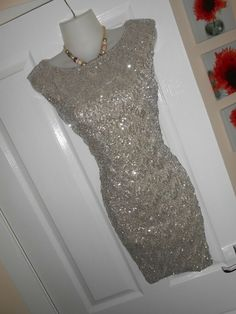 202ca308d329 STUNNING JANE NORMAN SIZE 12 MOCHA SILVER SEQUIN DRESS FAST POSTAGE  #fashion #clothing #shoes #accessories #womensclothing #dresses (ebay link)