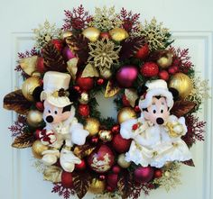 Christmas Disney Wreath with Mickey and by SparkleForYourCastle, $159.00