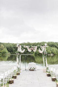 Romantic Birchwood Wedding Arbor