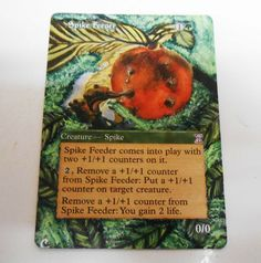 MTG Altered Painted Spike Feeder Time Spiral #WizardsoftheCoast