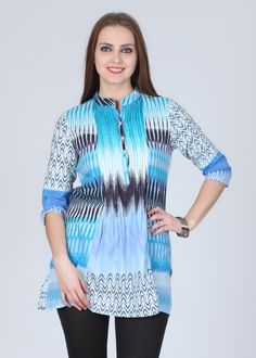 Rain & Rainbow 3/4 Sleeve Printed Women's Kurti for Rs.775.00 - Rs.233.00 (Instant Discount) = Rs.542.00 plus Shipping charges