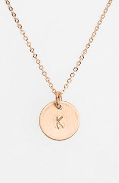 Free shipping and returns on Nashelle 14k-Rose Gold Fill Initial Mini Disc Necklace at Nordstrom.com. From humble beginnings to a fully staffed warehouse in Bend, Oregon, Nashelle remains true to its original purpose—handmade jewelry crafted with love and intention. The mini-initial necklace is no different, with a small hand-stamped pendant suspended from a delicate chain for a dainty effect.