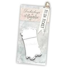 @Overstock - MAGNOLIA-DooHickeys. DooHickeys are steel dies that can be used in most any die-cutting machine that accepts wafer-thin dies. The designs are adorable and will look right at home in any paper- crafting project. This package contains Tilda Ticket.http://www.overstock.com/Crafts-Sewing/Princes-Princesses-DooHickeys-Dies-Tilda-Ticket/6774551/product.html?CID=214117 $18.39