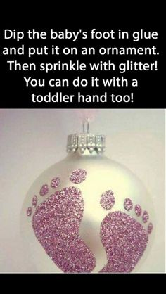 60 Trendy Ideas Baby Diy Gifts For Grandparents Babies First Christmas, Christmas Baby, Diy Christmas Gifts, Christmas Ideas, Diy 1st Christmas Ornaments, Christmas Tree, Newborn Christmas, Christmas Projects, Toddler Christmas Crafts
